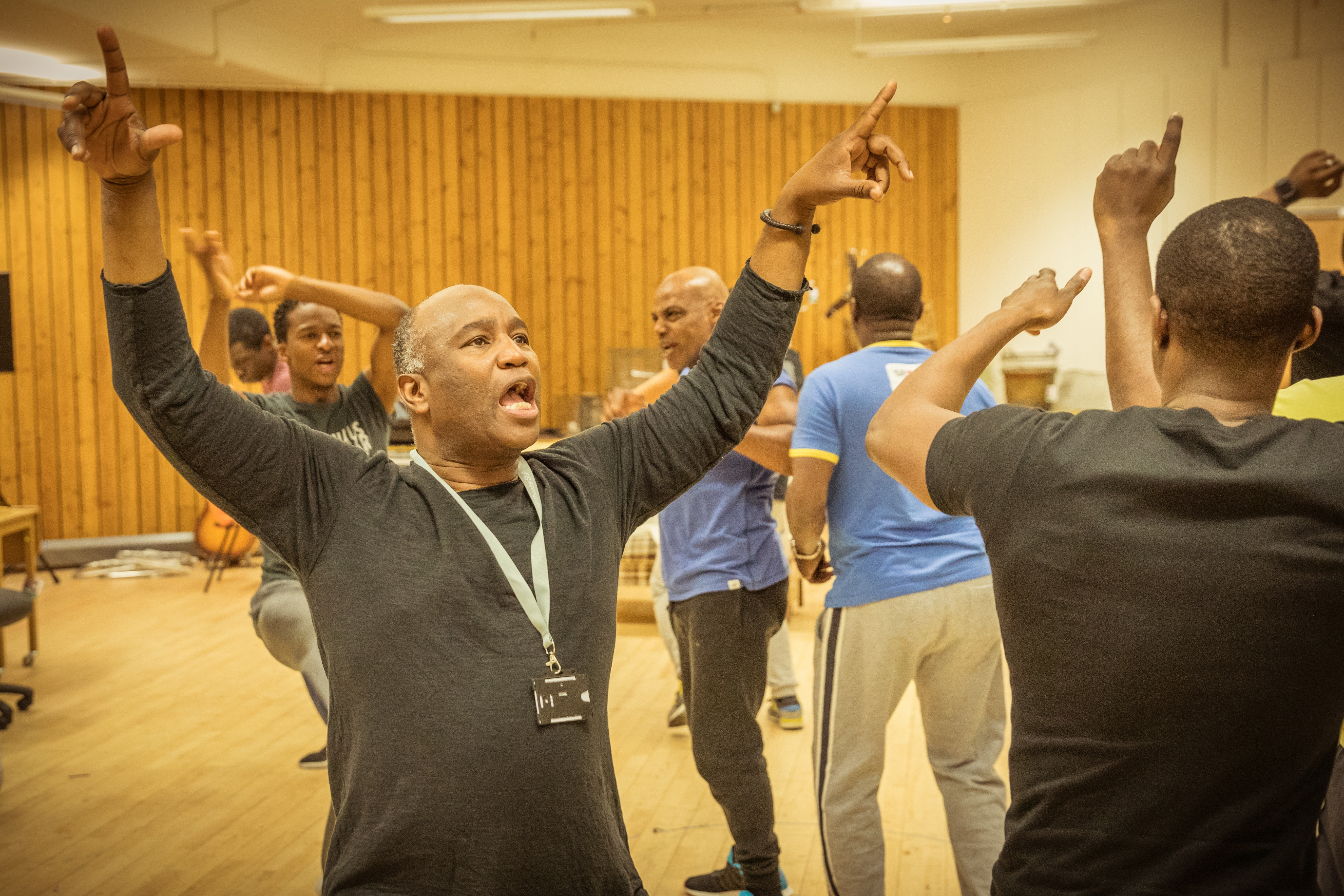 Barber Shop Chronicles in rehearsal: vibrant production travels to Leeds following a sell-out run at the National Theatre