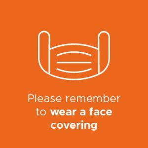 Wear a face covering infographic