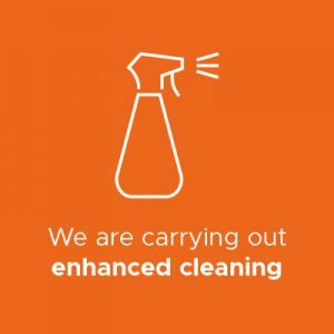 Enhanced cleaning infographic