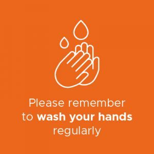 Wash your hands regularly infographic