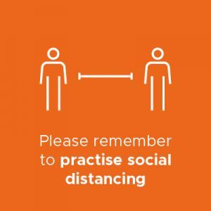 Practise social distancing infographic